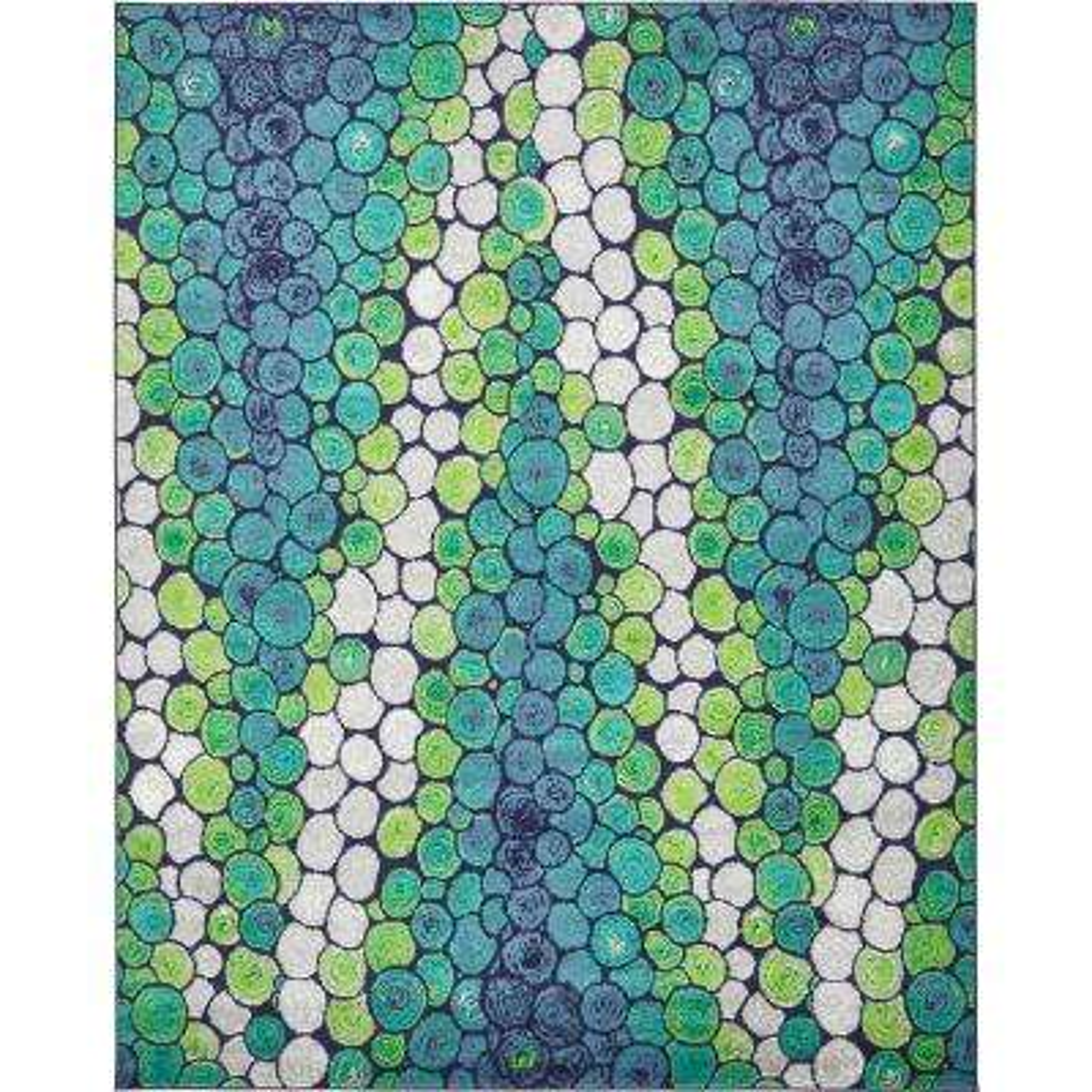 Metro Pebbles Light Green 8' 0 x 10' 0 Area Rug