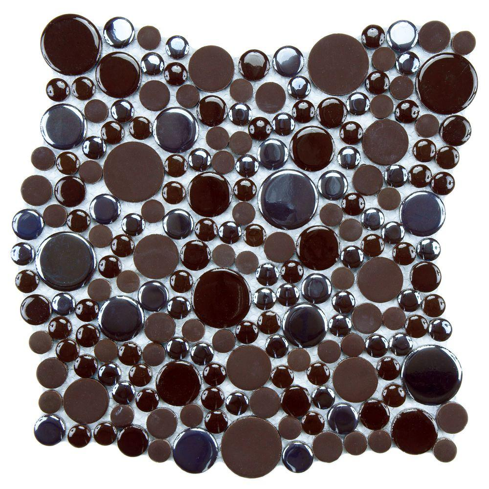 Cosmo Bubble Brown 11-1/4 in. x 12 in. x 8 mm