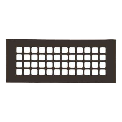 Square Series 12 in. x 4 in. Aluminum Grille, Oil Rubbed Bronze without Mounting Holes