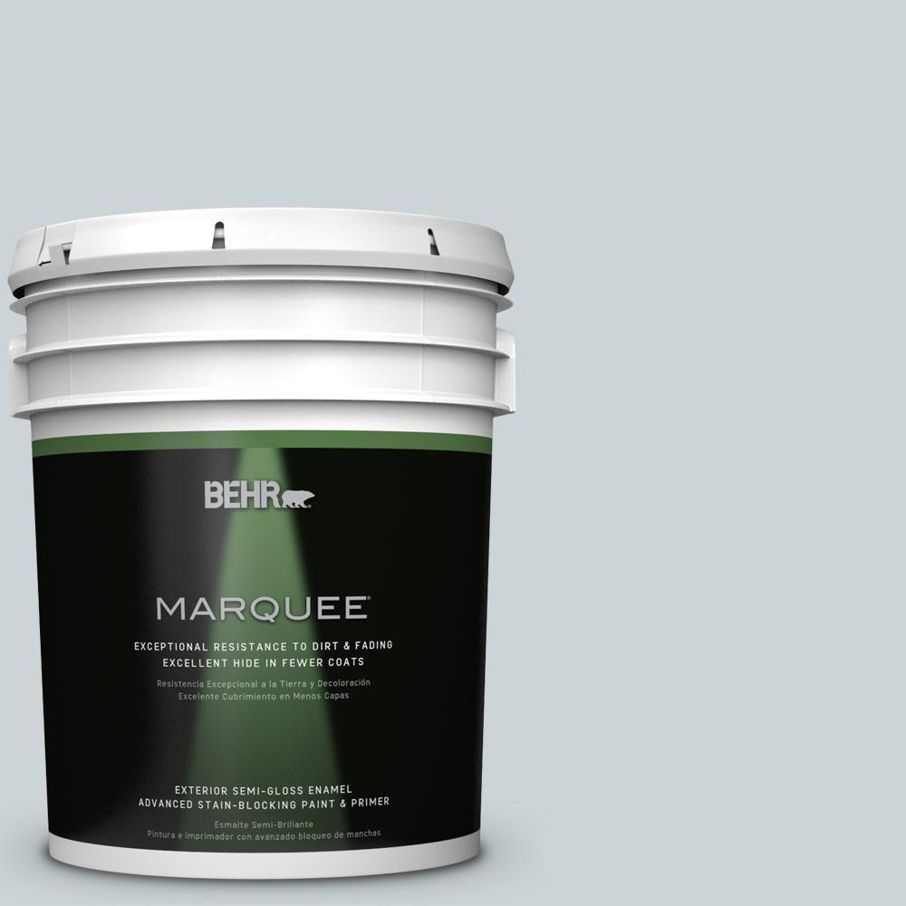 BEHR MARQUEE 5-gal. #N470-1 Ash Blue Semi-Gloss Enamel Exterior Paint