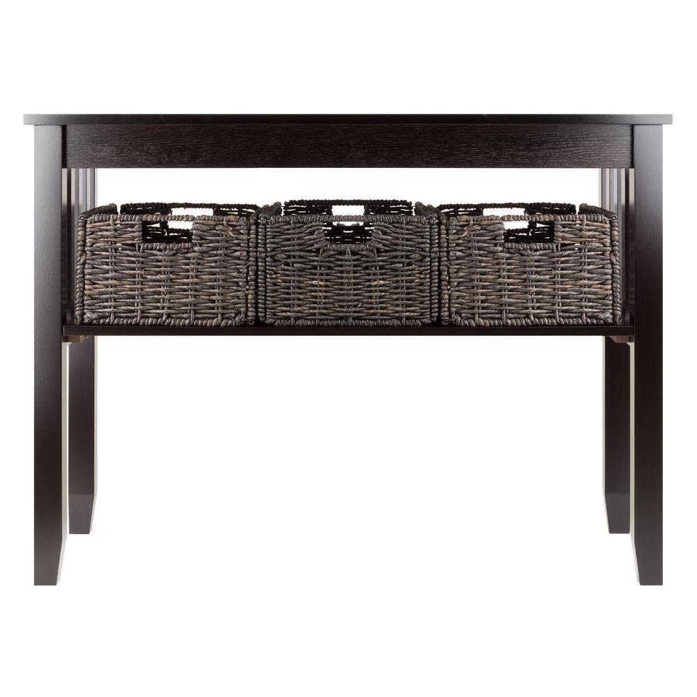 Morris Espresso Console Table