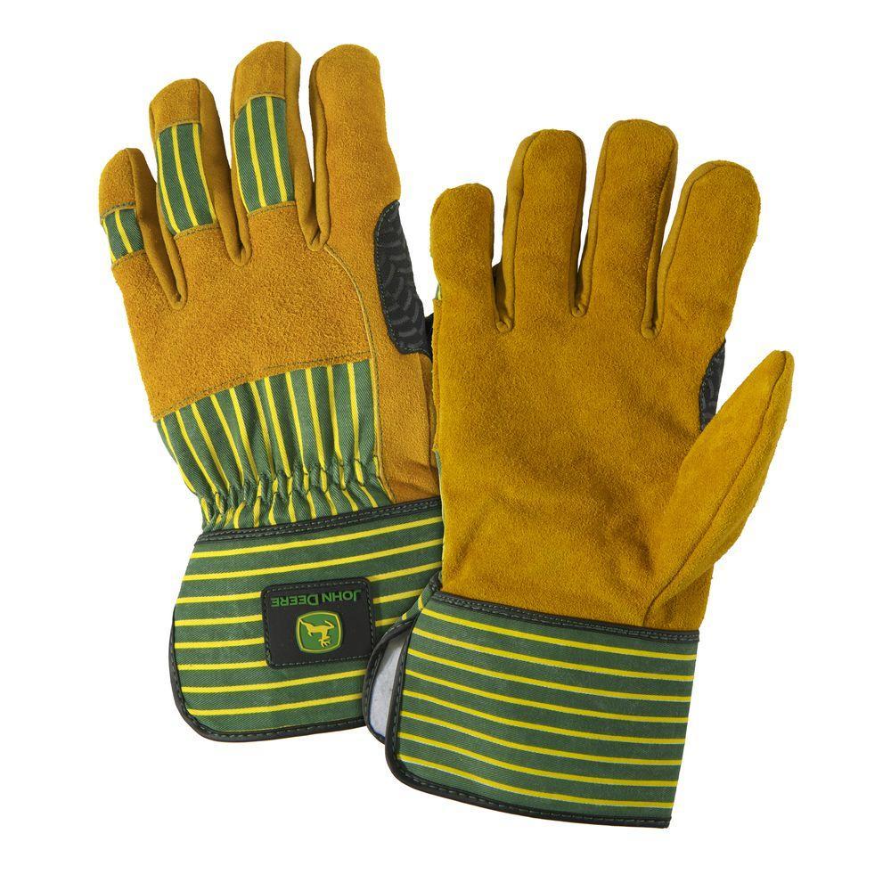 John Deere Split Cowhide Large Leather Palm Gloves by John Deere