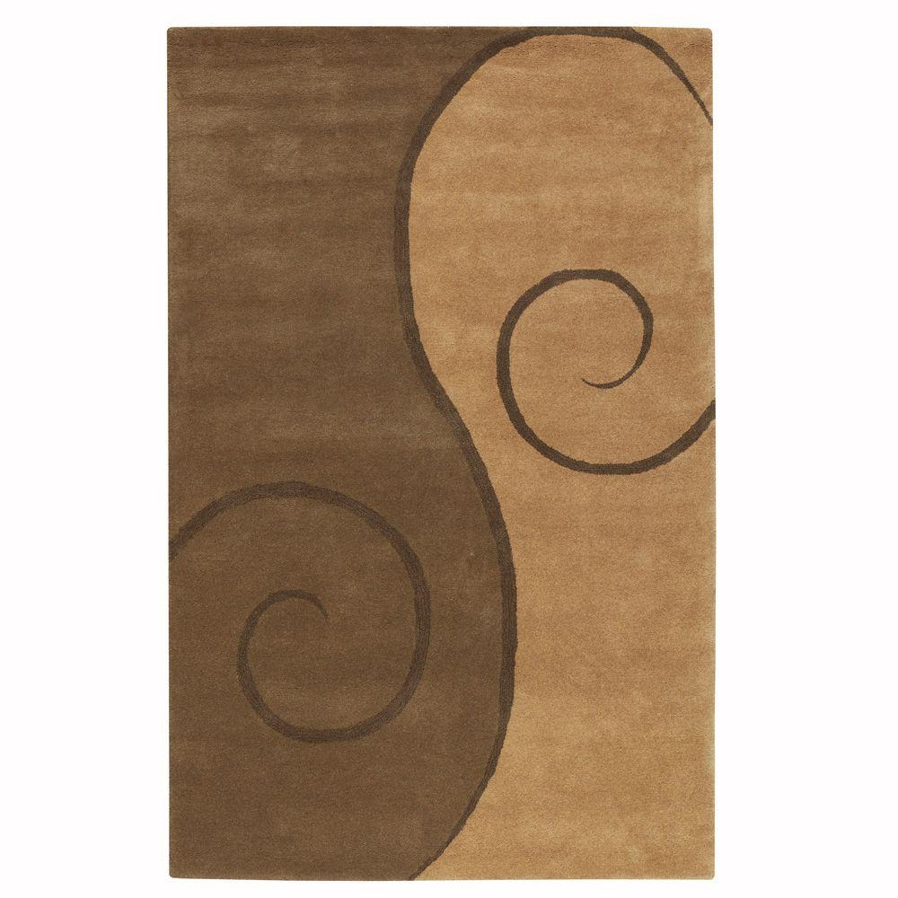 Home Decorators Collection Swirl Tan 5 ft. 3 in. x 8 ft. 3 in. Area Rug