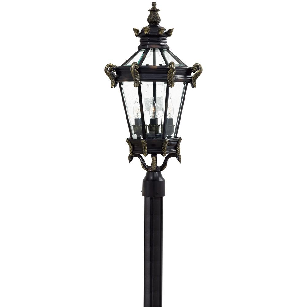 Outdoor Post Lights At Home Depot: The Great Outdoors By Minka Lavery Stratford Hall 4-Light