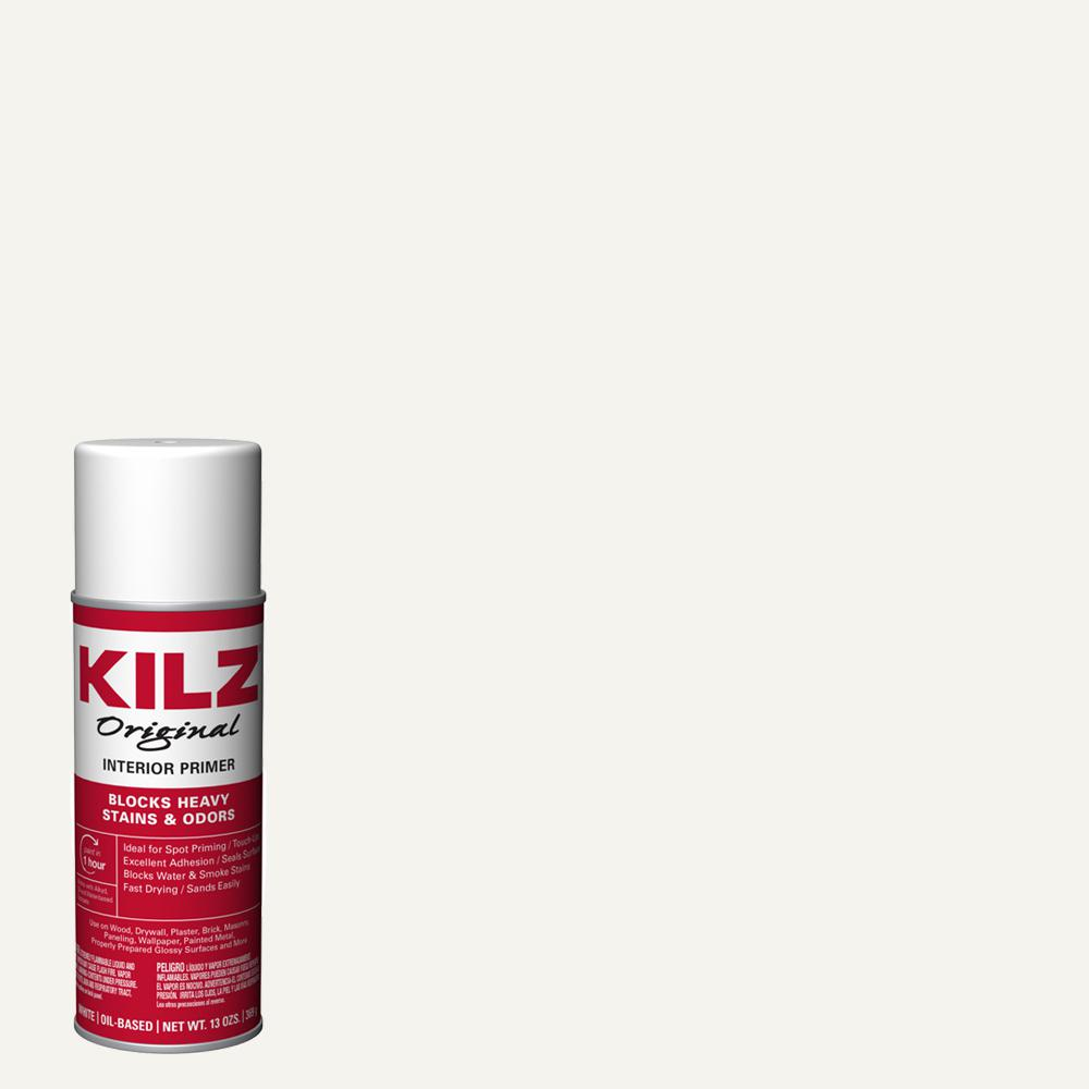 KILZ Original 13 oz  White Oil-Based Interior Primer Spray, Sealer, and  Stain Blocker