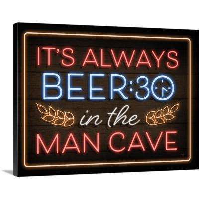"""""""Neon Beer:30 Man Cave"""" by Mollie B. Canvas Wall Art"""