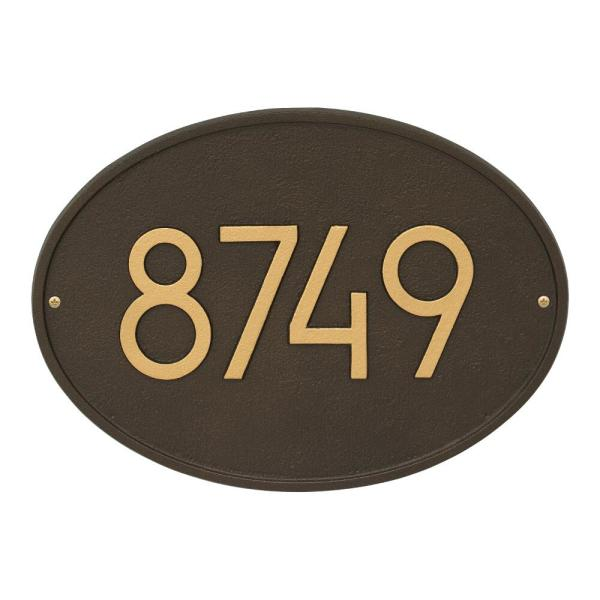 Whitehall Products Hawthorne Modern Personalized Oval Wall Plaque 3140ad The Home Depot