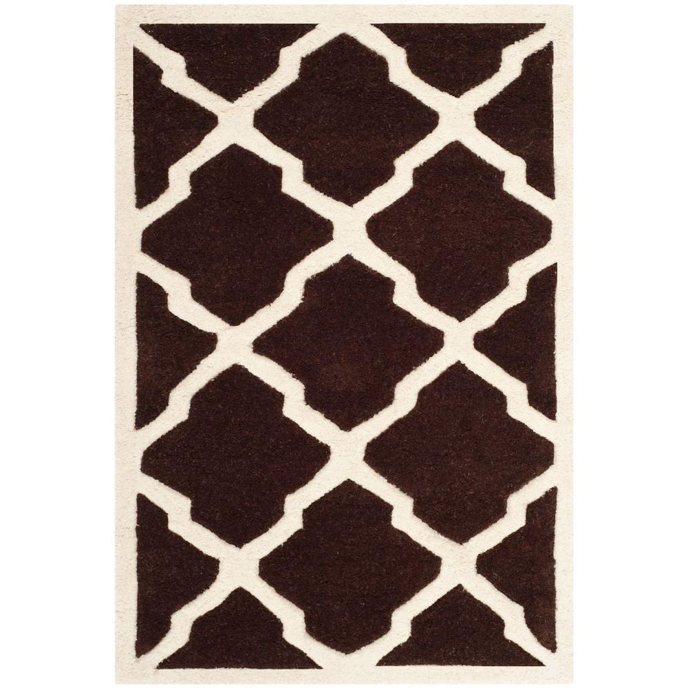 Chatham Dark Brown/Ivory 3 ft. x 5 ft. Area Rug