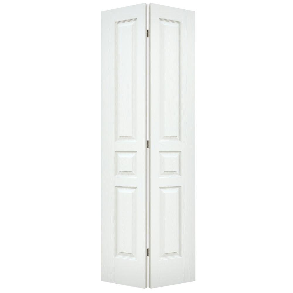32 in. x 80 in. Avalon White Painted Textured Hollow Core