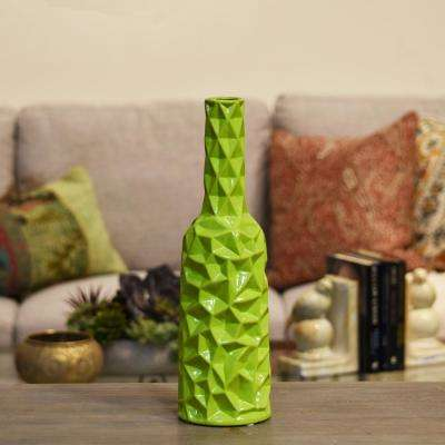 Green Gloss Ceramic Decorative Vase