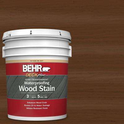 5 gal. #ST-129 Chocolate Semi-Transparent Waterproofing Exterior Wood Stain