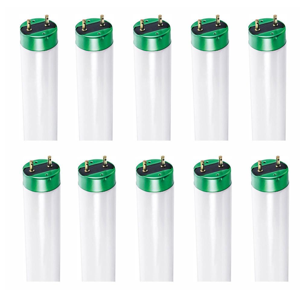 32-Watt 4 ft. Alto Linear T8 Fluorescent Tube Light Bulb, Daylight (6500K) (10-Pack)
