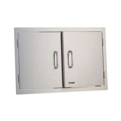 33 in. Stainless Steel Built-In Double Access Storage Doors