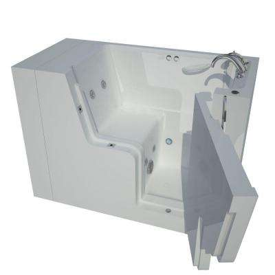 Nova Heated Wheelchair Accessible 4.5 ft. Walk-In Whirlpool Bathtub in White with Chrome Trim