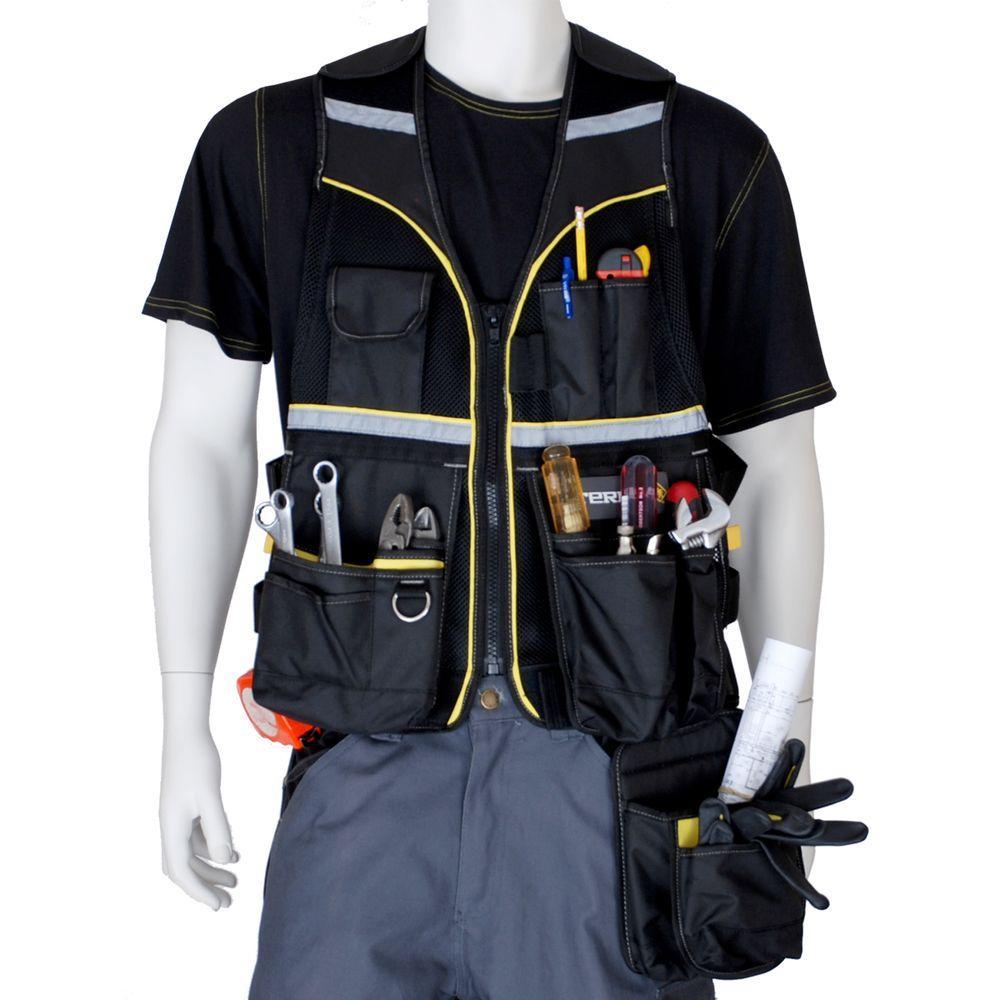 Terra Multi Pocket Tool Vest 103530blkbulk The Home Depot