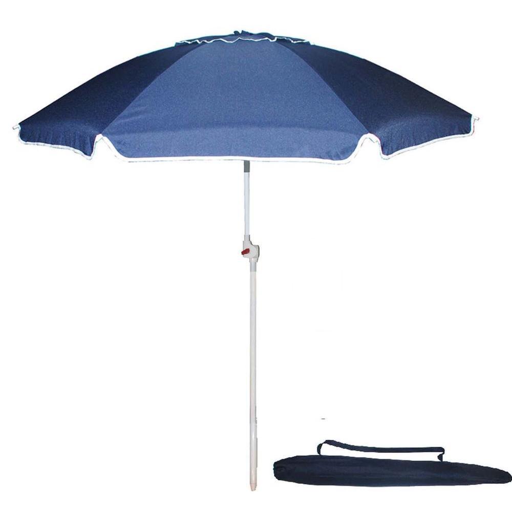 Kingstate Portable 7 ft. Beach Patio Umbrella in Blue