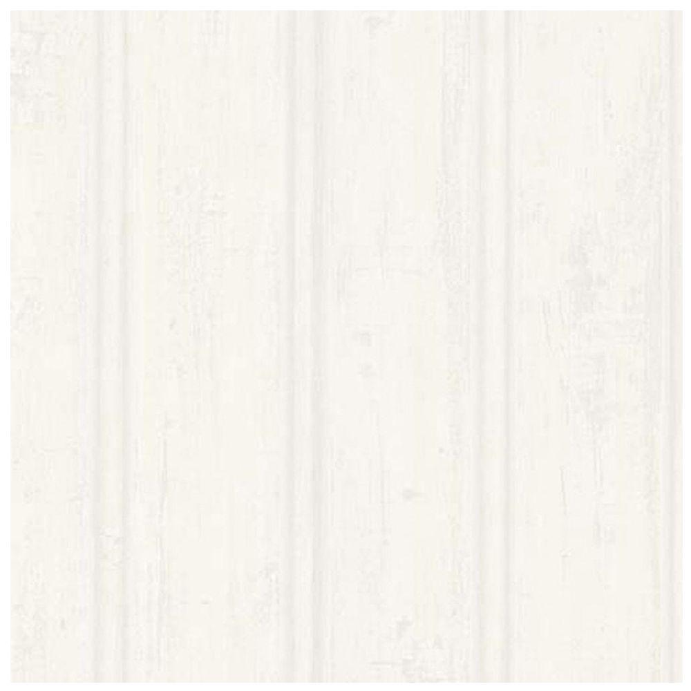 Brewster 56.4 sq. ft. Grayling Cream Textured Faux Wood Paneling ...