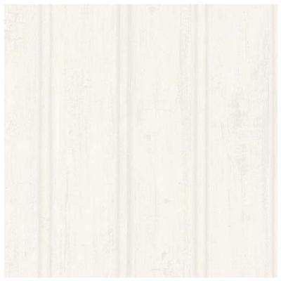 Grayling Cream Textured Faux Wood Paneling Wallpaper