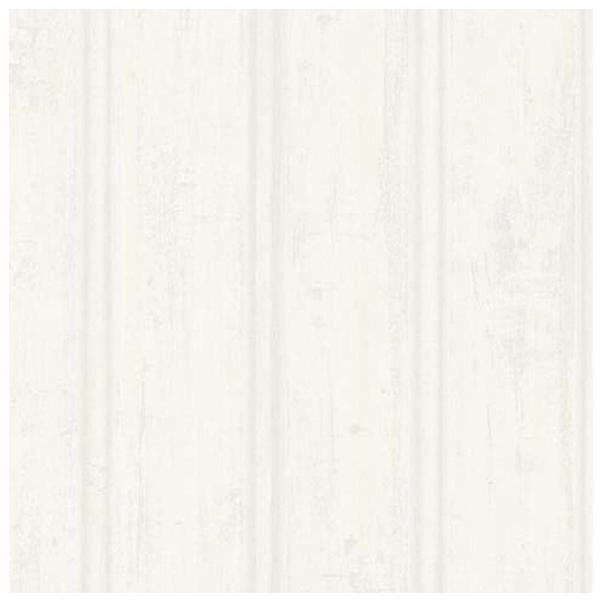 Brewster 56.4 sq. ft. Grayling Cream Textured Faux Wood Paneling Wallpaper