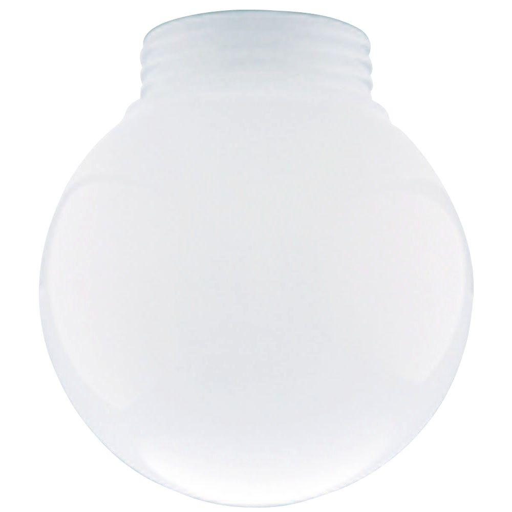 Westinghouse 6 in. White Glass Threaded Neck Globe with 3...
