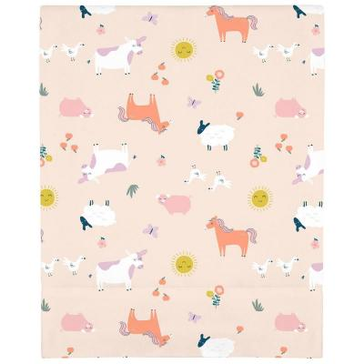 Pink Sunny Farms Super Soft Mini Fitted Polyester Crib Sheet