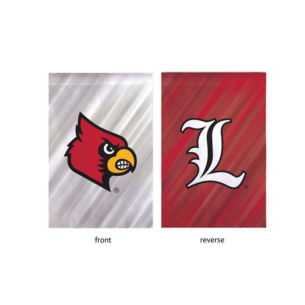 Fan Essentials NCAA 18 in. x 12.5 in. University of Louisville Suede Garden Flag