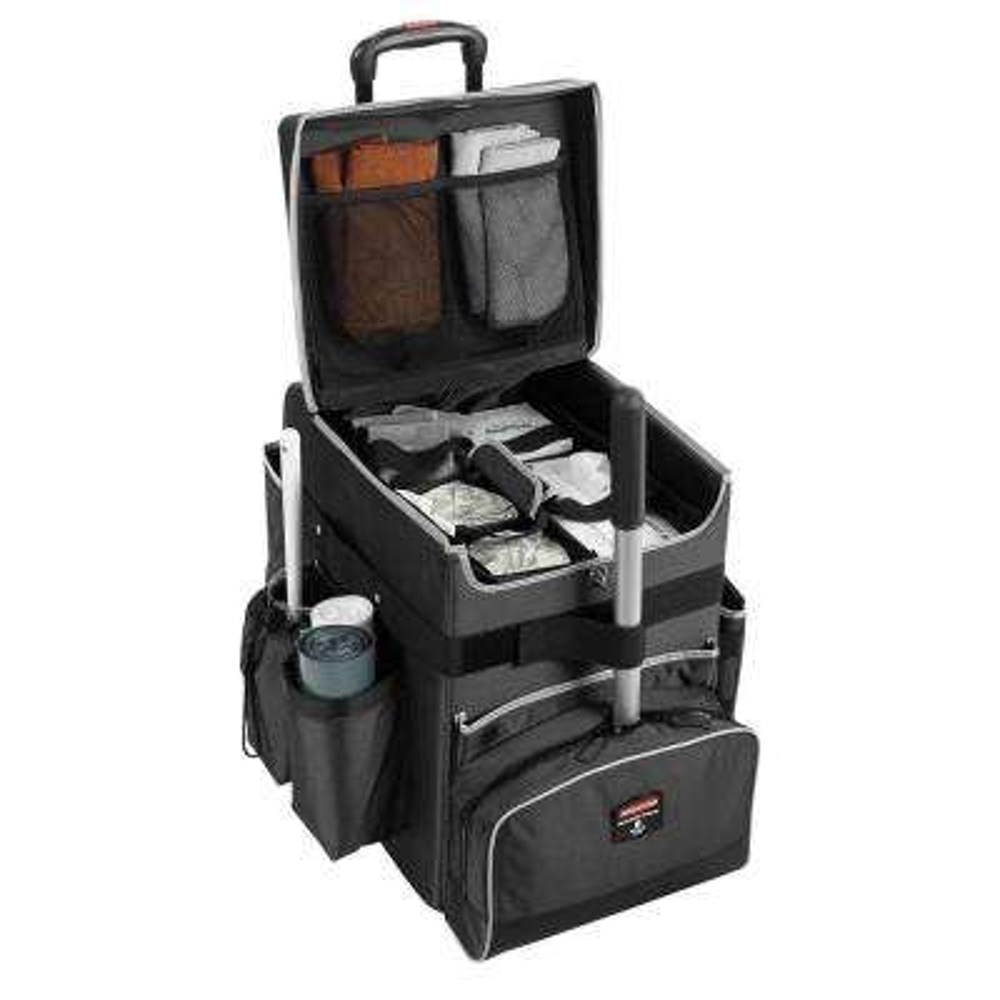 16.5 in. x 14.3 in. x 21 in., 40 lb. Capacity Dark Gray Medium Executive Quick Cart Telescopic Handle