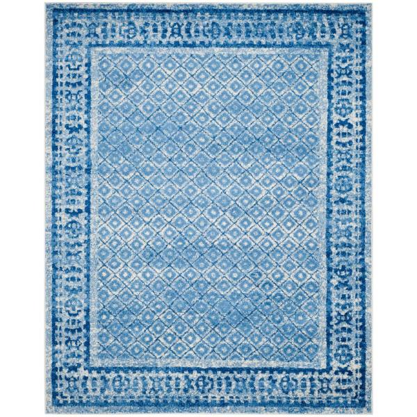 Adirondack Silver/Blue 9 ft. x 12 ft. Area Rug