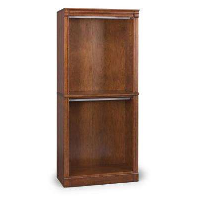 Aspen Rustic Cherry Wall Hanging Storage Unit