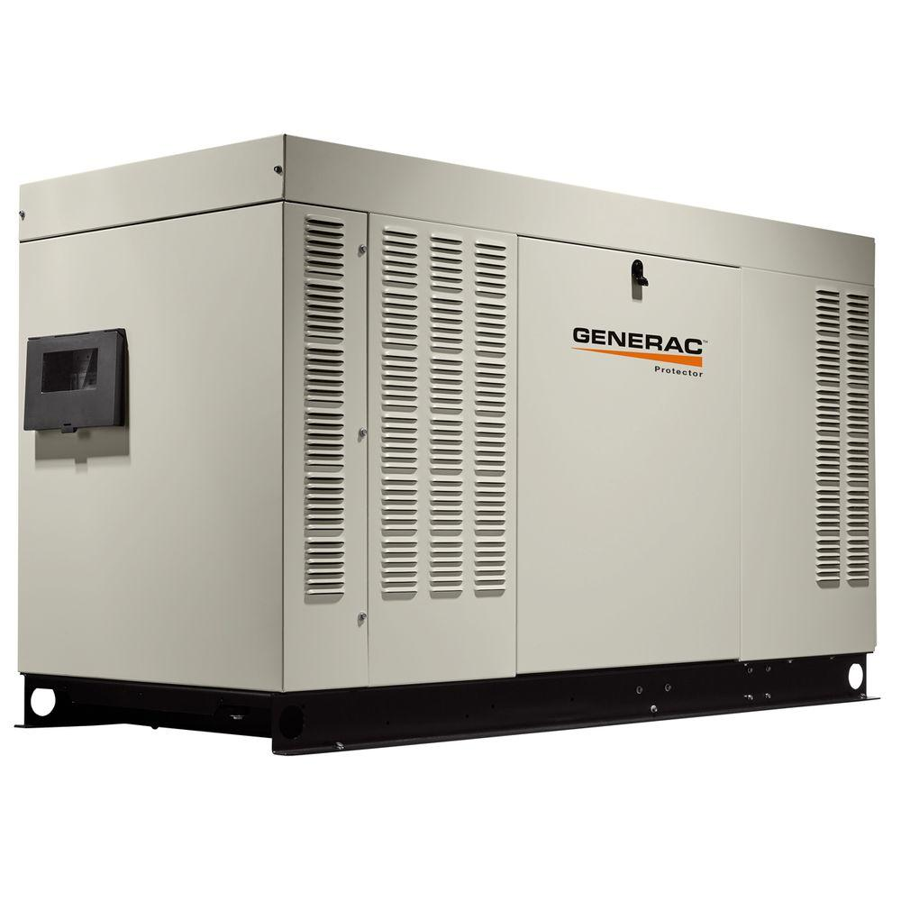 60,000-Watt 120-Volt/240-Volt Liquid Cooled Standby Generator Single Phase with Aluminum Enclosure