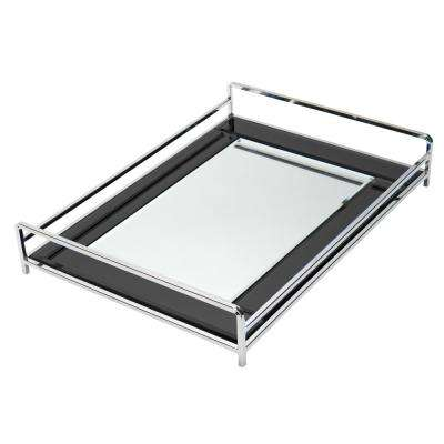 Vanity Tray with Black Mirror by Home Details