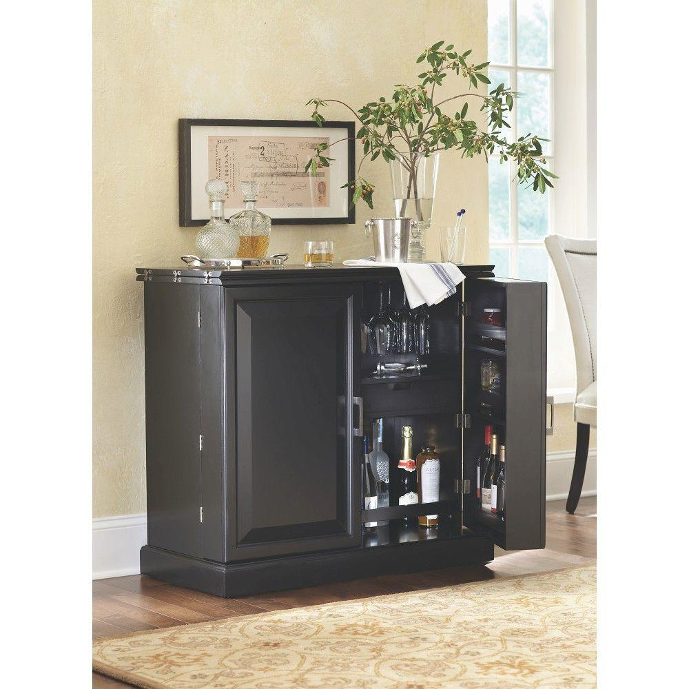Jamison Black Bar with Expandable Storage. Bars   Bar Sets   Kitchen   Dining Room Furniture   The Home Depot