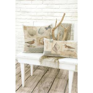 Shorebirds 18 in. x 18 in. Oyster Pillow Cover