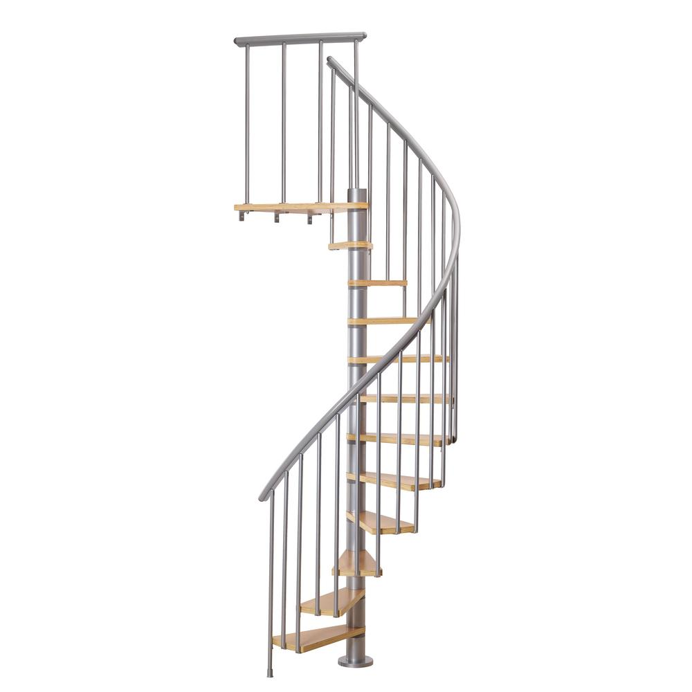 Calgary Grey 47 in. Dia Extra Baluster Stair Kit 110 in.