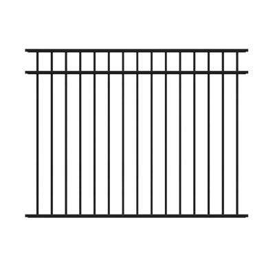 4.5 ft. H x 6 ft. W Natural Reflections Black Aluminum Fence Kit