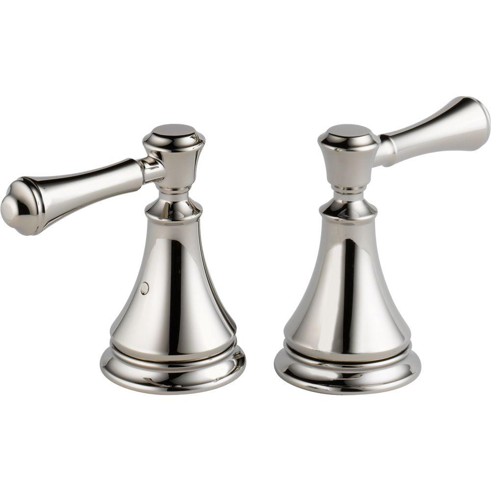 Delta Pair of Cassidy Metal Lever Handles for Roman Tub Faucet in ...