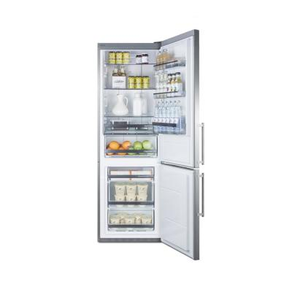 24 in. W 11.6 cu. ft. Bottom Freezer Refrigerator in Stainless Steel, Counter Depth