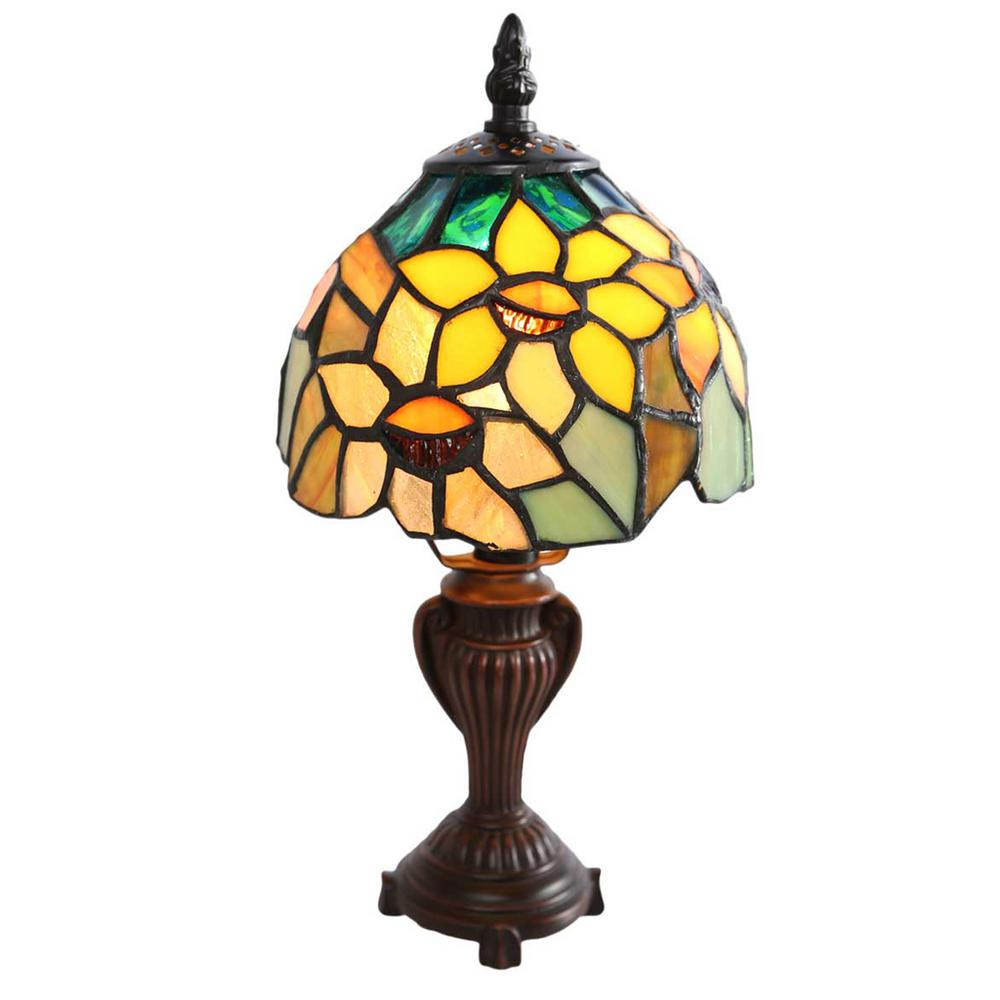 River of goods 115 in h multi colored stained glass table lamp h multi colored stained glass table lamp with sunflower aloadofball
