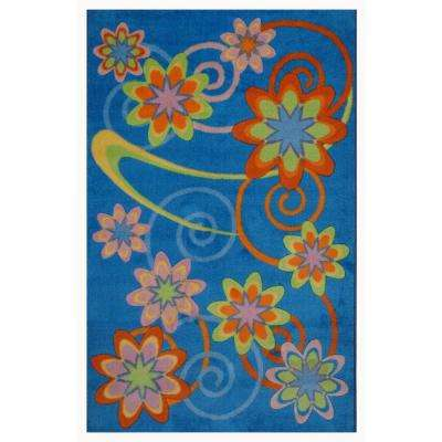 Supreme Flower Burst Multi Colored 39 in. x 58 in. Area Rug