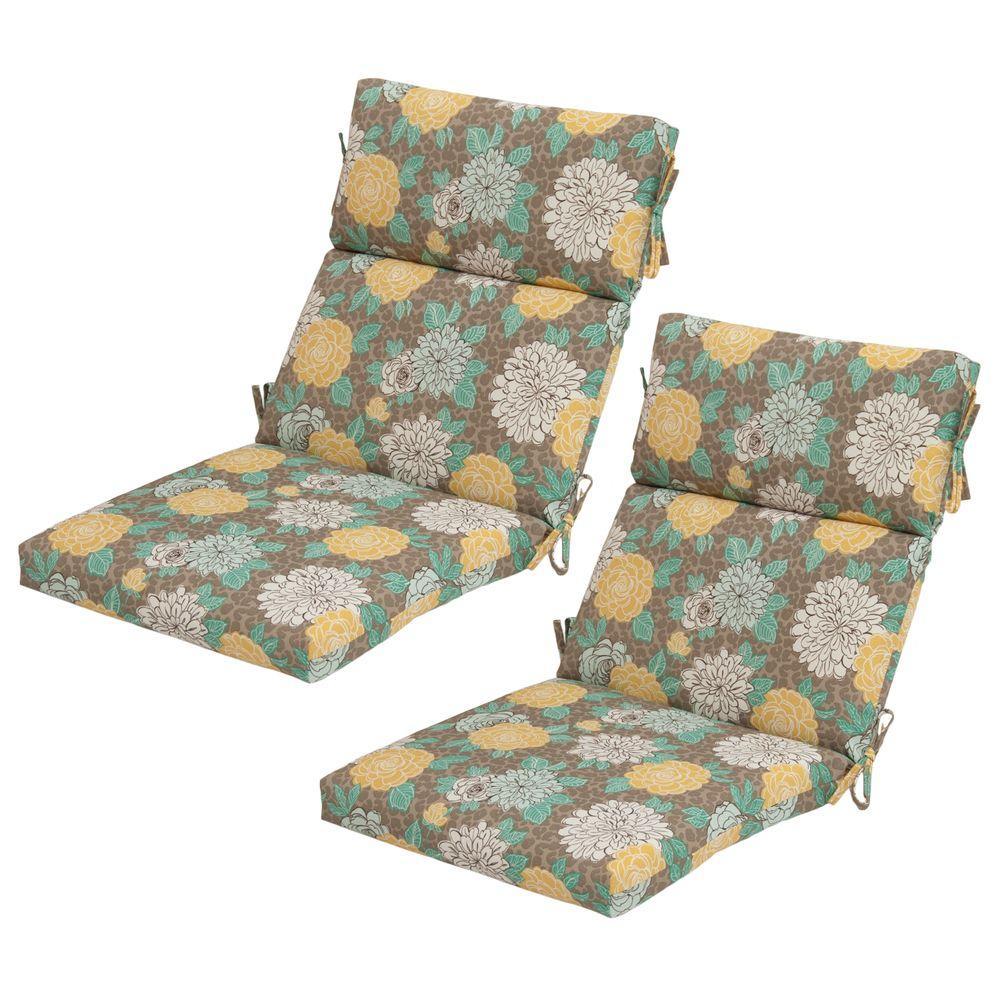 Hampton Bay Petula Outdoor Dining Chair Cushion (2-Pack)