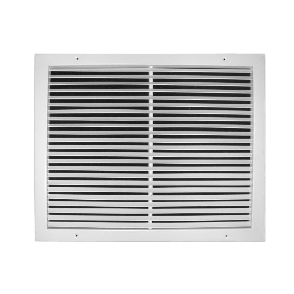 14 in. x 14 in. Fixed Bar Return Air Grille, White