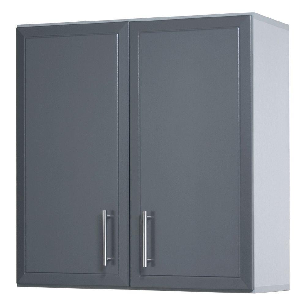 ClosetMaid ProGarage 32 in H x 24 in. W x 12 in. D 2-Door Gray Laminated Wall Cabinet