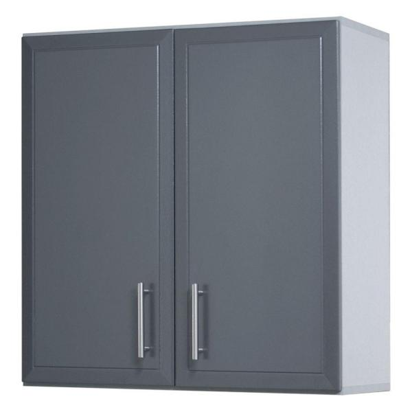 ProGarage 32 in H x 24 in. W x 12 in. D 2-Door Gray Laminated Wall Cabinet