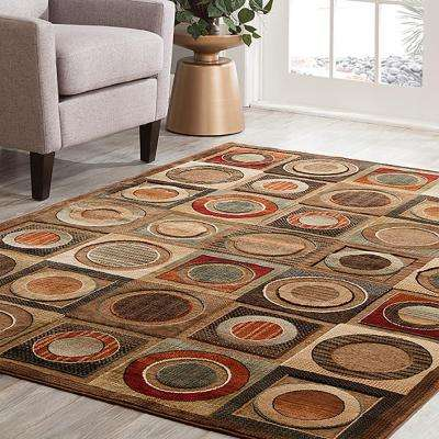 Napa Leyden Brown 5 ft. 3 in. x 7 ft. 6 in. Area Rug