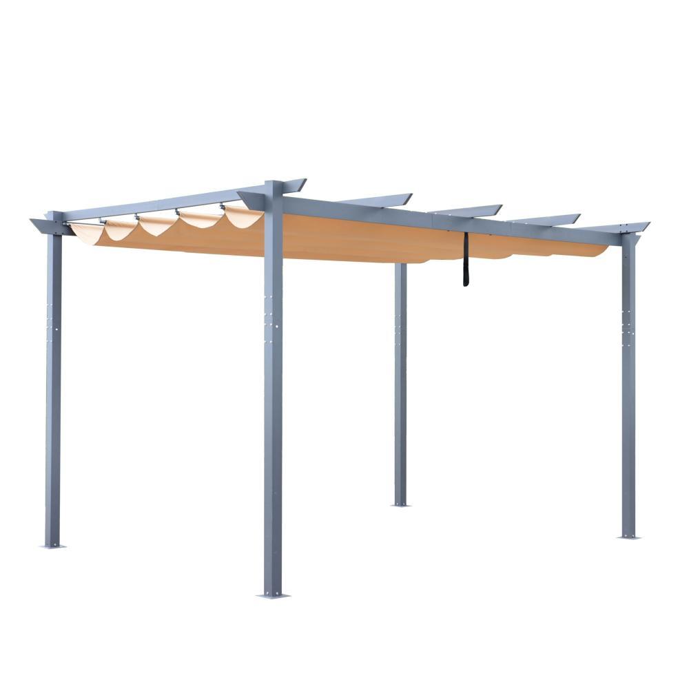 13 ft. x 10 ft. Sand Aluminium Pergola