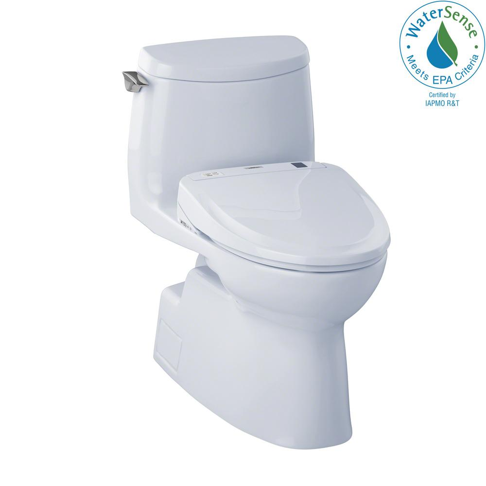 Toto Carlyle Ii Connect 1 Piece 1 0 Gpf Elongated Toilet With