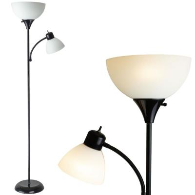 71 in. William Torchiere Floor Lamp with Reading Light with Free LED Light Bulb Included