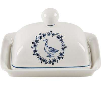 7 in. Rooster Butter Dish with Lid