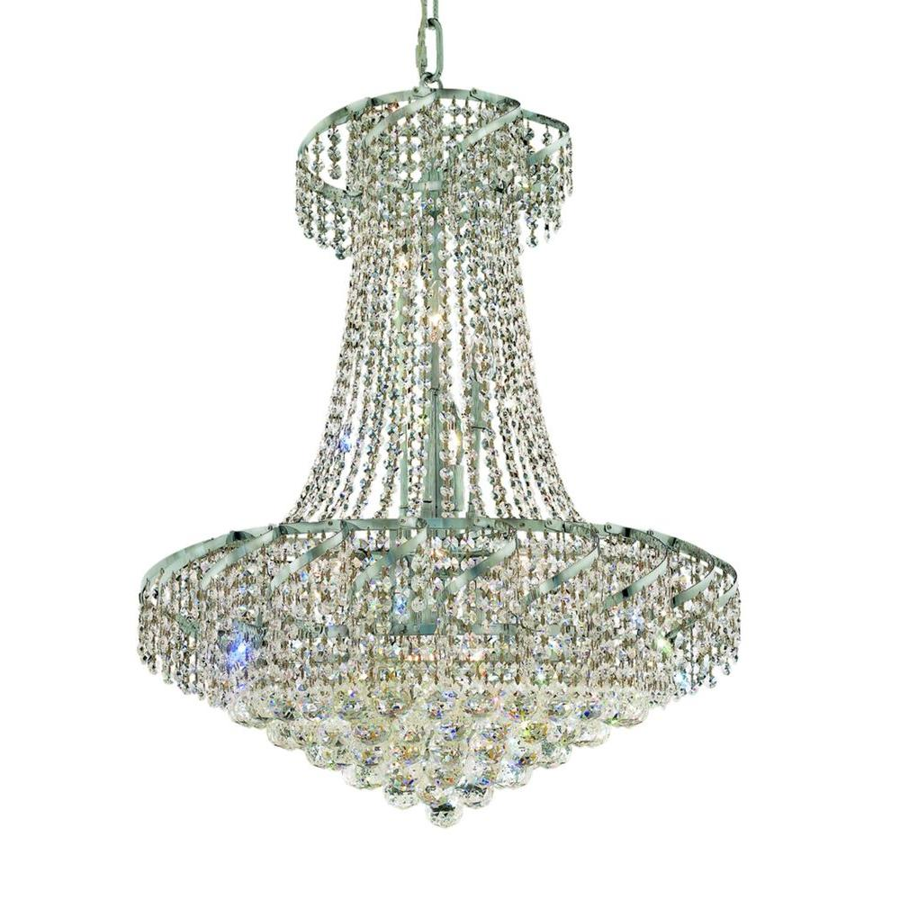 Elegant Lighting 15-Light Chrome Chandelier with Clear Crystal ...