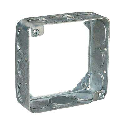 2-Gang 4 in. 21 cu. in. New Work Metal Square Electrical Box Extension Ring (Case of 20)
